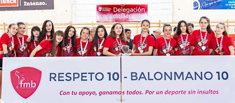 Subcampeonas de Madrid, infantiles femeninas 2019