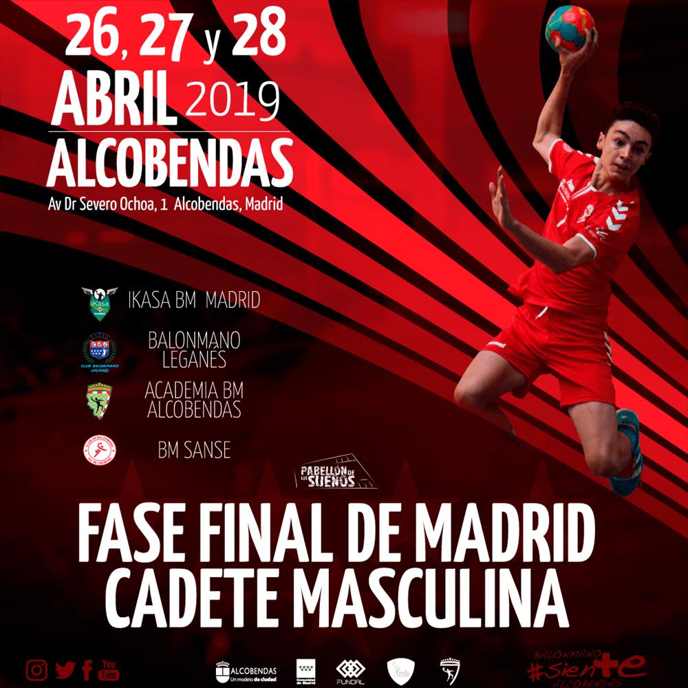 Equipo cadete de la Academia BM Alcobenda temporada 2018-2019