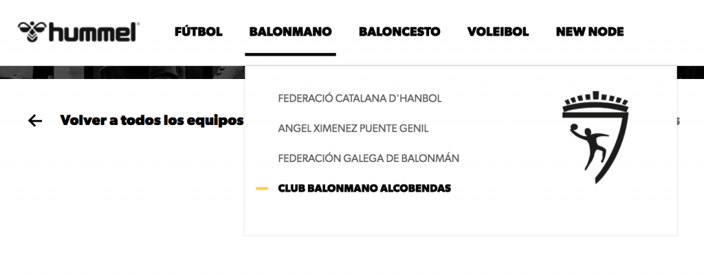 Imagen decorativa página de Balonmano Alcobendas Hummel
